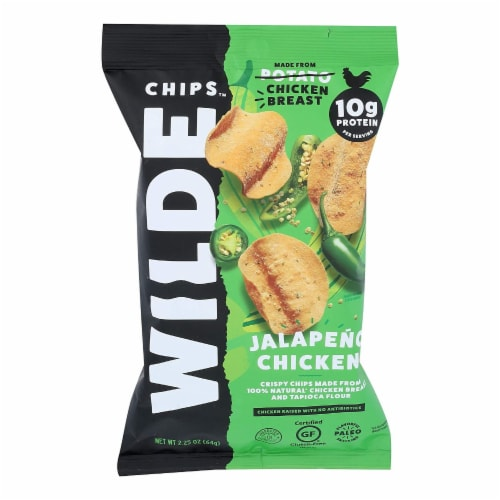 Wilde - Jalapeno Chicken Chips - Case of 12 - 2.25 oz Perspective: front