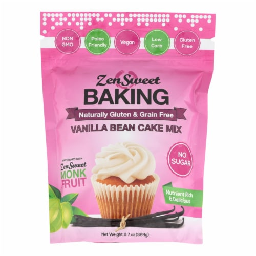 Zensweet - Baking Mix Vanilla Bean Cake - Case of 12 - 11.7 OZ Perspective: front