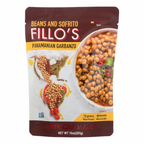 Fillo's Beans - Panamanian Garbanzo - Case of 6 - 10 oz. Perspective: front