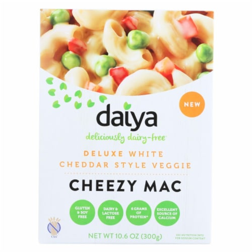 Daiya Foods - Cheezy Mac Deluxe - White Cheddar Style - 10.6 oz. - Case of 8 Perspective: front