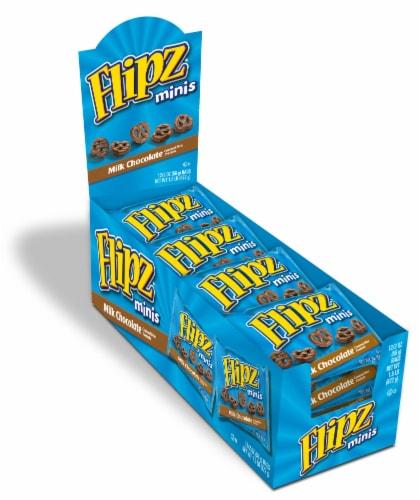 Flipz Milk Chocolate Covered Mini Pretzels (8 Pack) Perspective: front