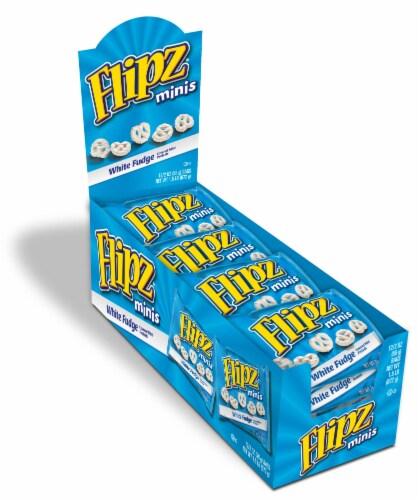Flipz White Fudge Covered Mini Pretzels (8 Pack) Perspective: front