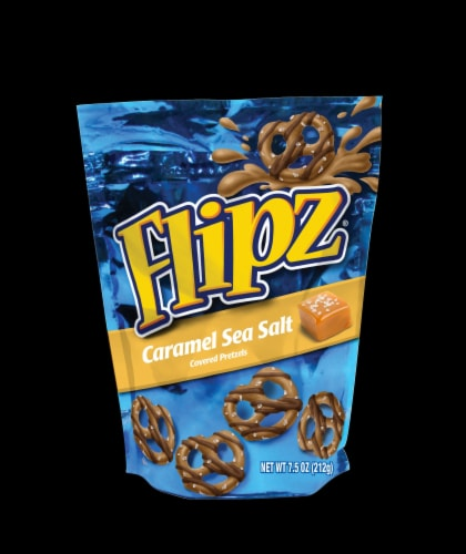 Flipz Caramel Sea Salt Covered Pretzel, 5 Ounce -- 6 per case. Perspective: front