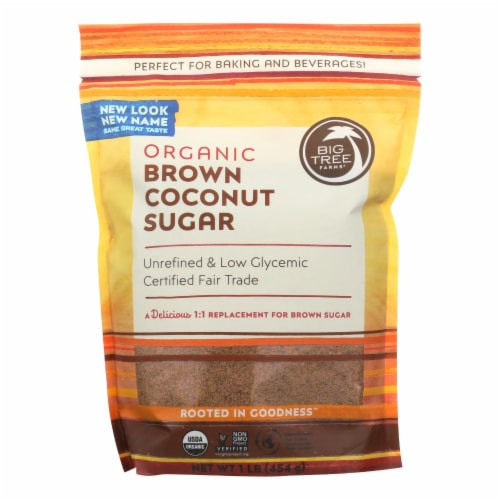 Big Tree Farms Coconut Palm Sugar - Blonde - Case of 6 - 16 oz. Perspective: front