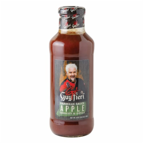 Guy Fieri Smokey & Sweet Barbecue Apple Sauce, 19 oz [Pack of 6] Perspective: front