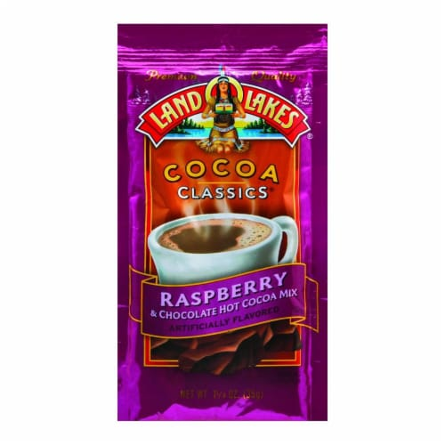 Land O Lakes Cocoa Classic Mix - Raspberry and Chocolate - 1.25 oz - Case of 12 Perspective: front