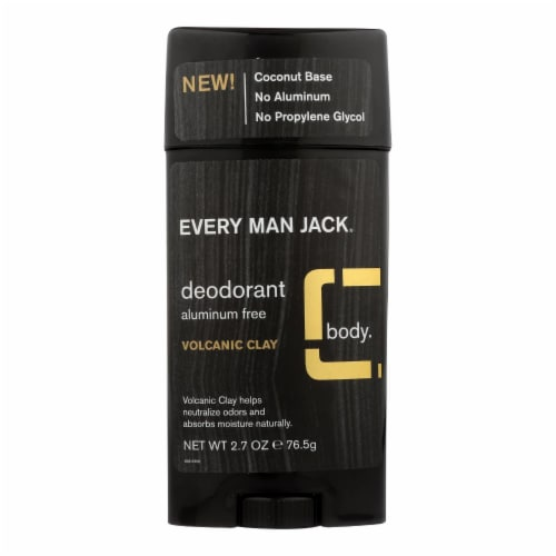 Every Man Jack - Deodorant Volcanic Clay - 1 Each - 2.7 OZ Perspective: front