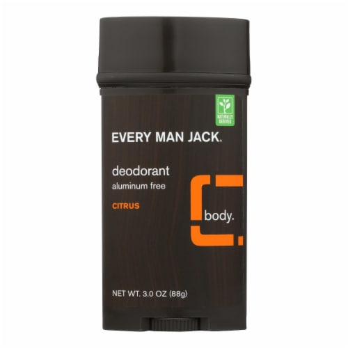 Every Man Jack Body Deodorant - Citrus - Aluminum Free - 3 oz Perspective: front