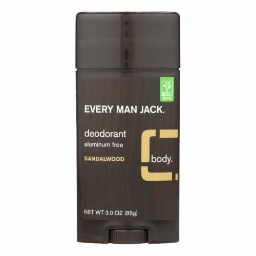 Every Man Jack Body Deodorant - Sandalwood - Aluminum Free - 3 oz Perspective: front