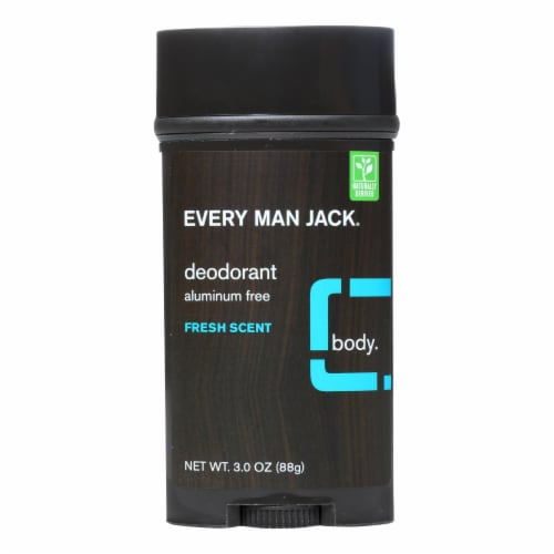 Every Man Jack Body Deodorant - Fresh Scent - 3 oz Perspective: front