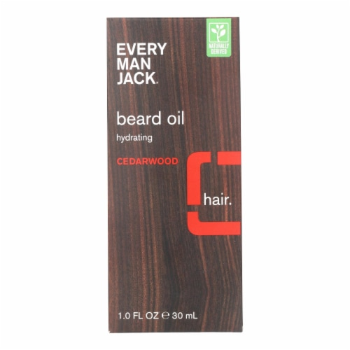 Every Man Jack Beard Oil - Cedar wood - 1 oz. Perspective: front