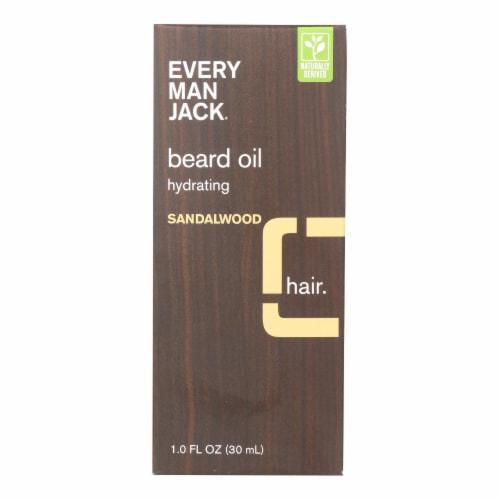 Every Man Jack Beard Oil - Sandalwood - 1 oz. Perspective: front