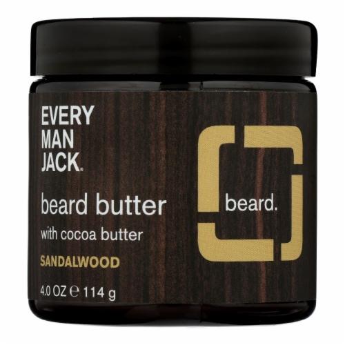 Every Man Jack - Beard Butter Sandalwood - 1 Each - 4 OZ Perspective: front