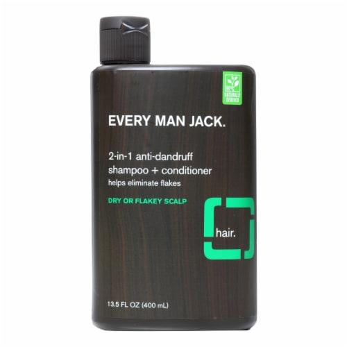 Every Man Jack Shampoo - 2In1 - Anti-Dandruff - 13.50 fl oz Perspective: front