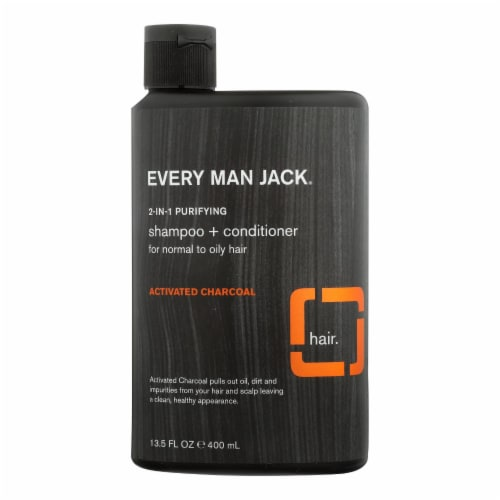 Every Man Jack - 2in1 Purfing Activ/charcl - 1 Each - 13.5 OZ Perspective: front