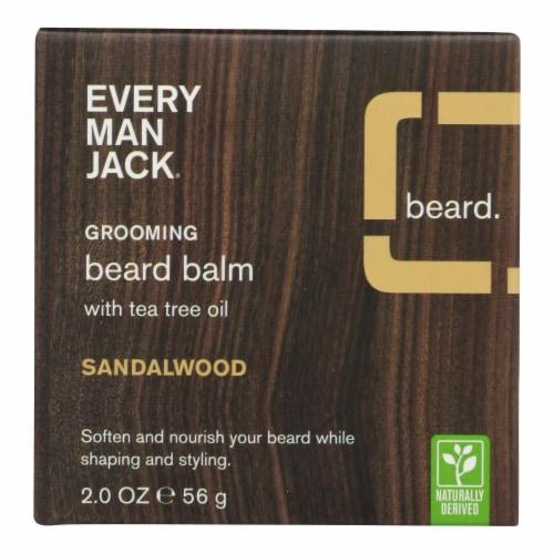 Every Man Jack - Beard Balm Sandalwood - 1 Each - 2 OZ Perspective: front