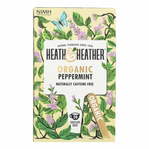 Heath & Heather - Tea Peppermint Herbal - Case of 6 - 20 CT Perspective: front