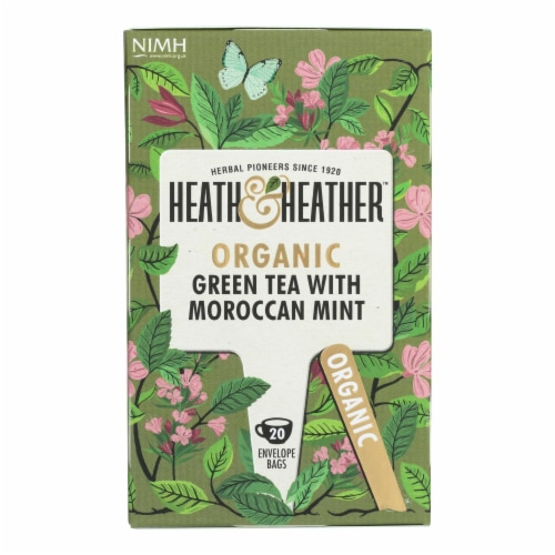 Heath & Heather - Tea Green W/mrccn Mint - Case of 6 - 20 CT Perspective: front