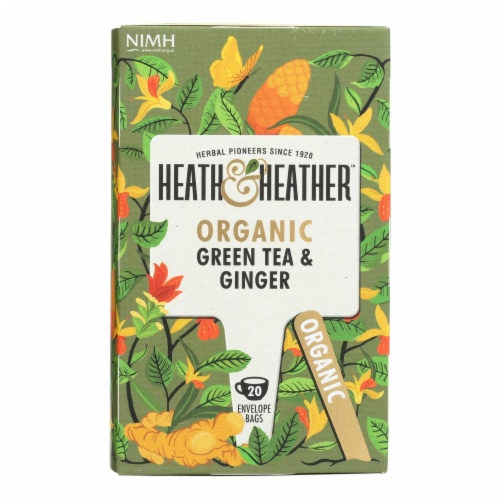 Heath & Heather - Tea Green W/ginger - Case of 6 - 20 CT Perspective: front