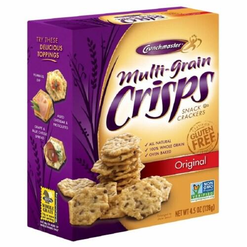 Crunchmaster Original Multi-Grain Crisps Snack Crackers, 4.5 OZ (Pack of 6) Perspective: front