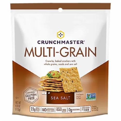 Crunchmaster Gluten Free Multi-Grain Sea Salt Cracker Perspective: front