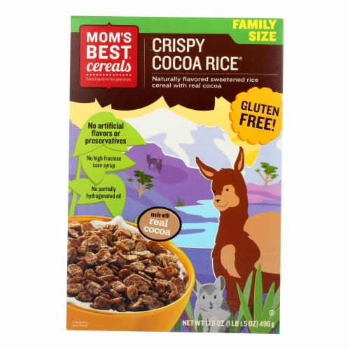 Moms Best Naturals Cereal - Crispy Cocoa Rice - 17.5 oz - case of 14 Perspective: front