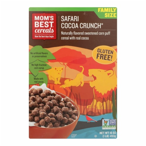 Mom's Best Naturals - Cereal Safari Cocoa Crunch - Case of 10 - 16 OZ Perspective: front
