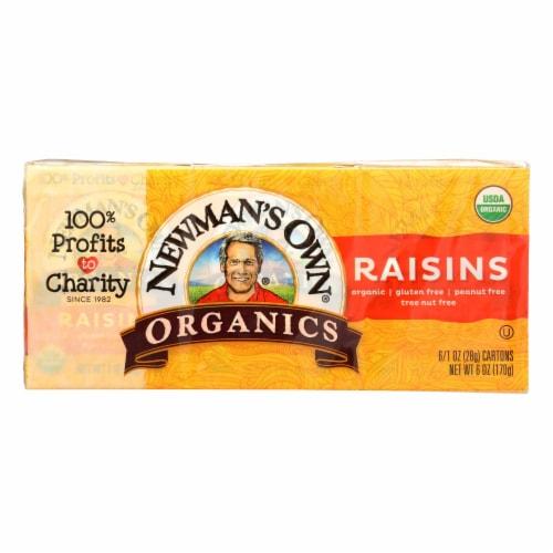 Newman's Own Organics Raisins  - Case of 12 - 6/1.0 OZ Perspective: front