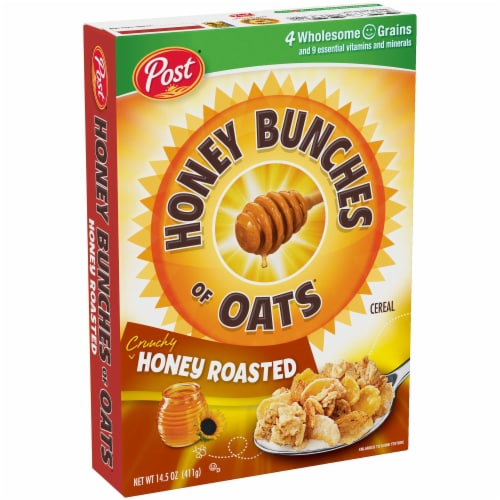 Ralston Foods Post Honey Bunches of Oats Cereal with Honey Roasted, 48 Ounce -- 4 per case. Perspective: front