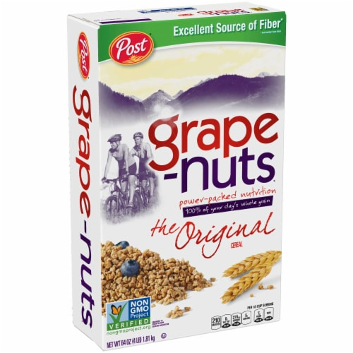 Post Grape-Nuts Cereal, 64-Ounce Box Perspective: front