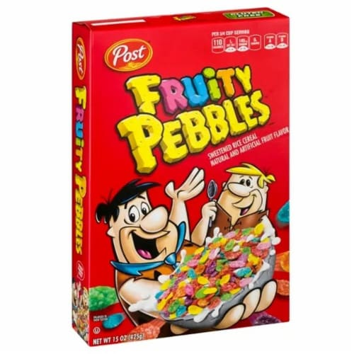 Post Fruity Pebbles Cereal, 15 Ounce -- 12 per case. Perspective: front