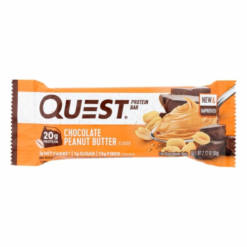 Quest Chocolate Peanut Butter Bar Perspective: front
