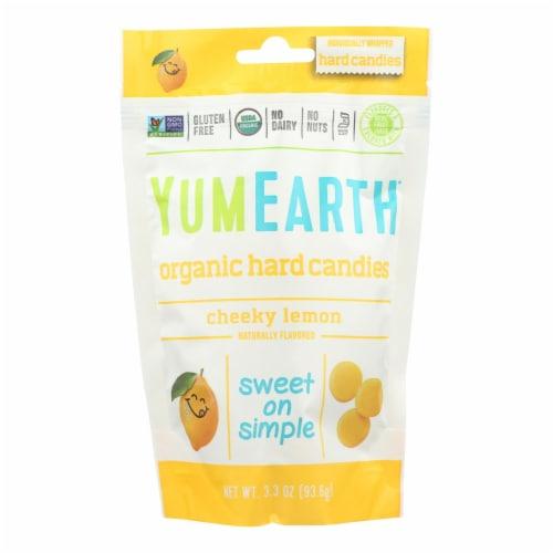 YumEarth Organics Organic Lemon Drops - Cheeky Lemon - 3.3 oz - Case of 6 Perspective: front
