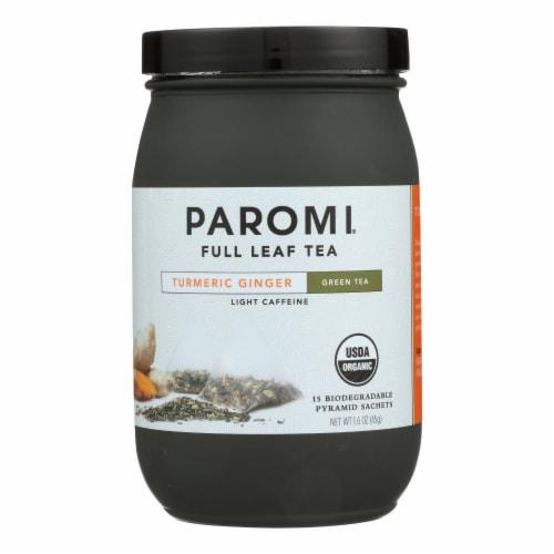 Paromi Tea - Green Tumeric Ginger - CS of 6-15 CT Perspective: front