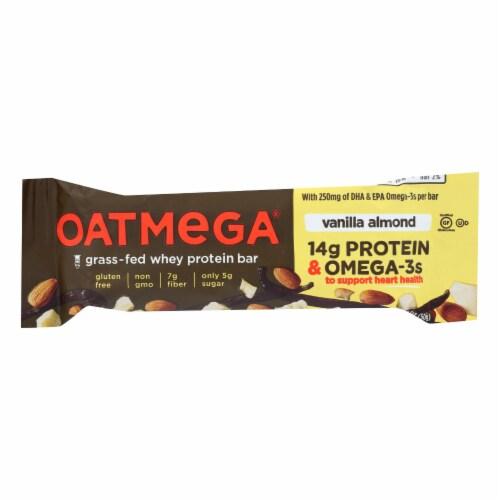Oatmegabar Protein Bar - Vanilla Almond Crisp - 1.8 oz Bars - Case of 12 Perspective: front