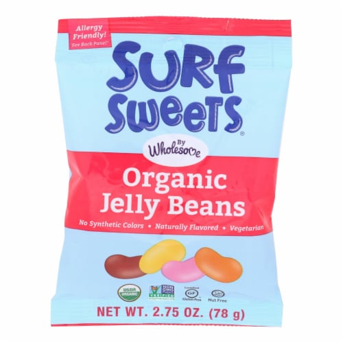 Surf Sweets Organic Jelly Beans - Case Of 12 - 2.75 Oz. Perspective: front