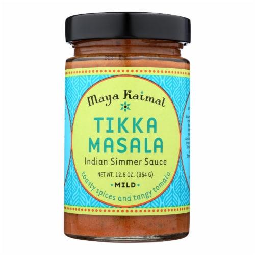 Maya Kaimal Tikka Masala Simmer Sauce - Case of 6 - 12.5 oz. Perspective: front