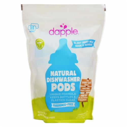 Dapple Dishwasher Pods - Automatic - Fragrance Free - 25 Count Perspective: front