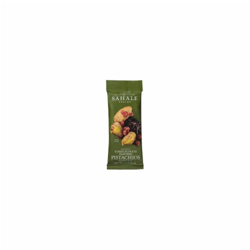 Sahale Glazed Mix With Pomegranate Flavored Pistachios  - Case of 9 - 1.5 OZ Perspective: front