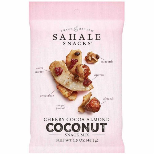 Sahale Cherry Cocoa Almond Coconut Snack Mix, 7 count per pack -- 6 per case. Perspective: front