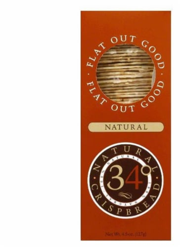 34 Degrees Natural Crispbread, 4.5 OZ (Pack of 18) Perspective: front