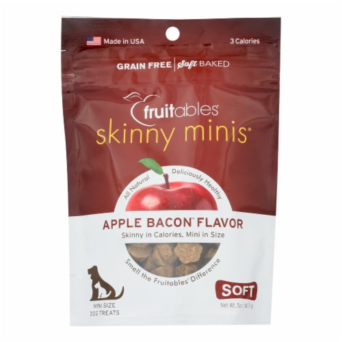 Fruitables - Dog Trts Chwy Applebacon - Case of 12 - 5 OZ Perspective: front