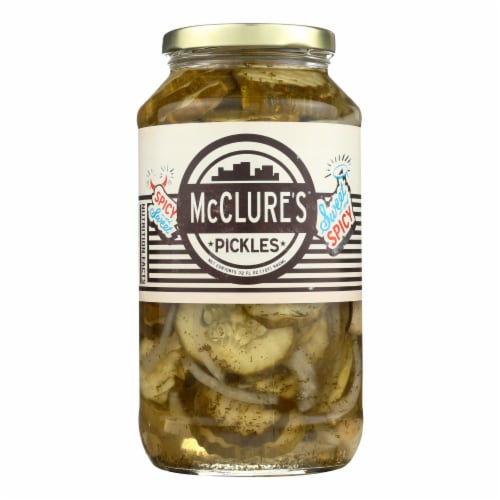 McClure's Pickles Sweet and Spicy Pickles - Case of 6 - 32 oz. Perspective: front