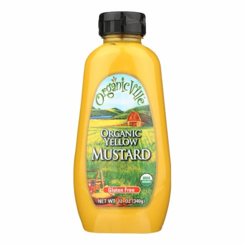 Organic Ville Organic Yellow - Mustard - Case of 12 - 12 oz. Perspective: front