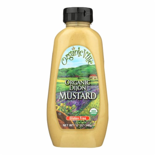 Organic Ville Stone Ground Organic - Mustard - Case of 12 - 12 oz. Perspective: front