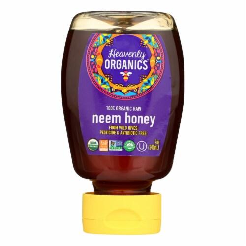 Heavenly Organics Honey - 100% Organic Raw Neem Squeeze Honey - Case of 6 - 12 oz. Perspective: front