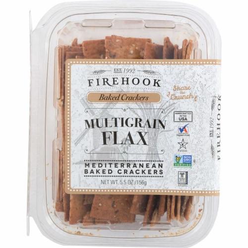 Firehook Baked Crackers Multigrain Mediterranean Baked Crackers, 5.5oz (Pack of 8) Perspective: front