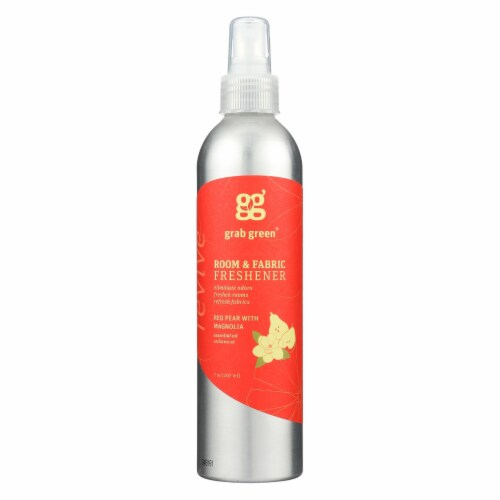 Grab Green Room and Fabric Freshener - Red Pear - Case of 6 - 7 Fl oz. Perspective: front