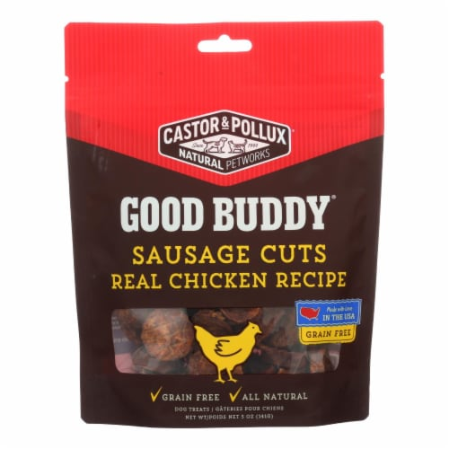 Castor and Pollux - Good Buddy Sausage Cuts - Real Chicken Recipe - Case of 6 - 5 oz. Perspective: front