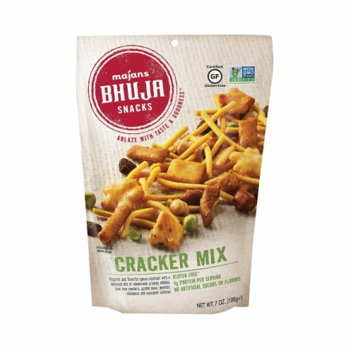 Bhuja Snacks - Cracker Mix - Case of 6 - 7 oz. Perspective: front